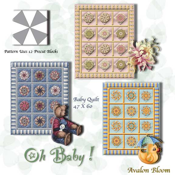 Patterns Oh Baby Kaleidoscope Quilt Pattern